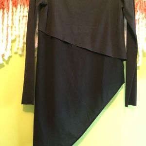 Zara Tops - zara fitted black asymmetrical top